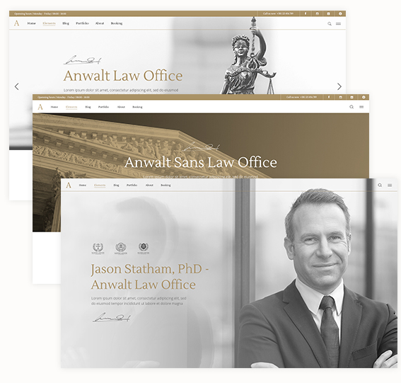 Anwalt Lawyer WordPress theme