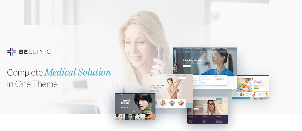 Be Clinic WordPress medical theme