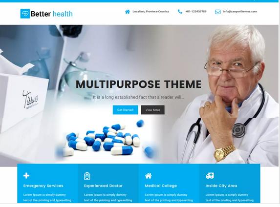 Better Health WordPress medical theme