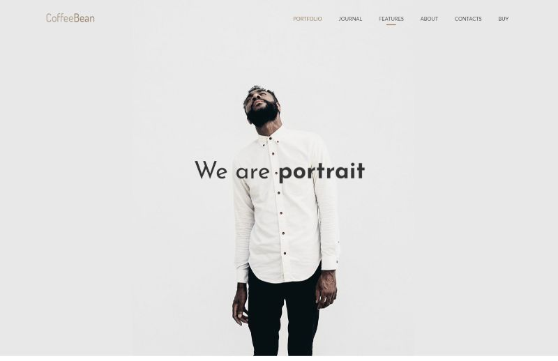 CoffeeBean portfolio WordPress theme