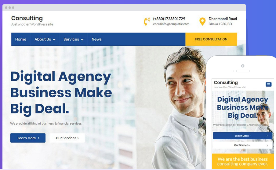 Consulting lawyer WordPress theme