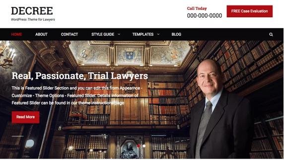 Decree lawyer WordPress theme