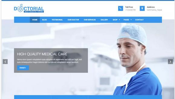 Doctorial WordPress medical theme