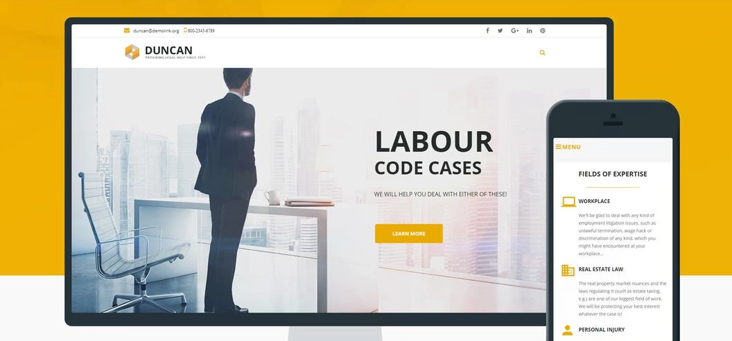 Duncan lawyer WordPress theme
