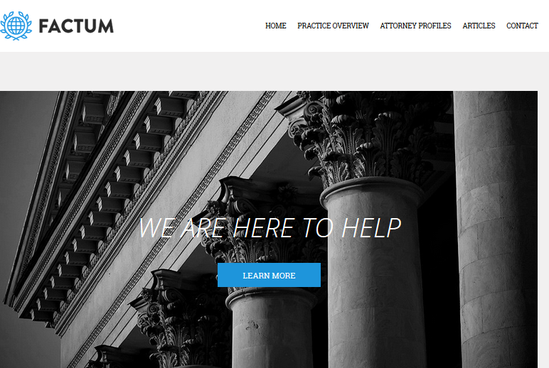 Factum lawyer WordPress theme