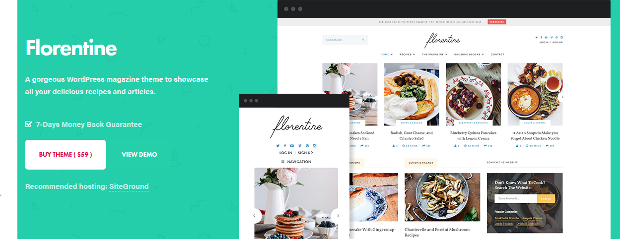 Florentine WordPress magazine theme