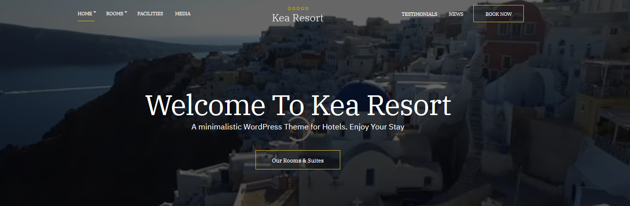 Kea Resort Hotel WordPress Theme