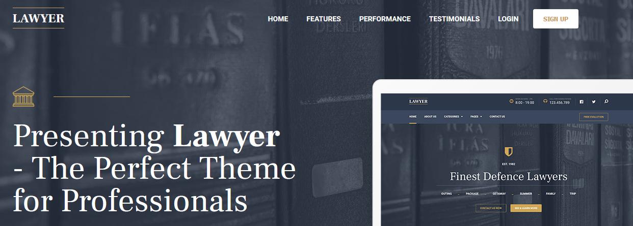 Lawyer WordPress theme