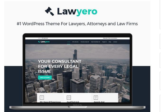 Lawyero WordPress theme
