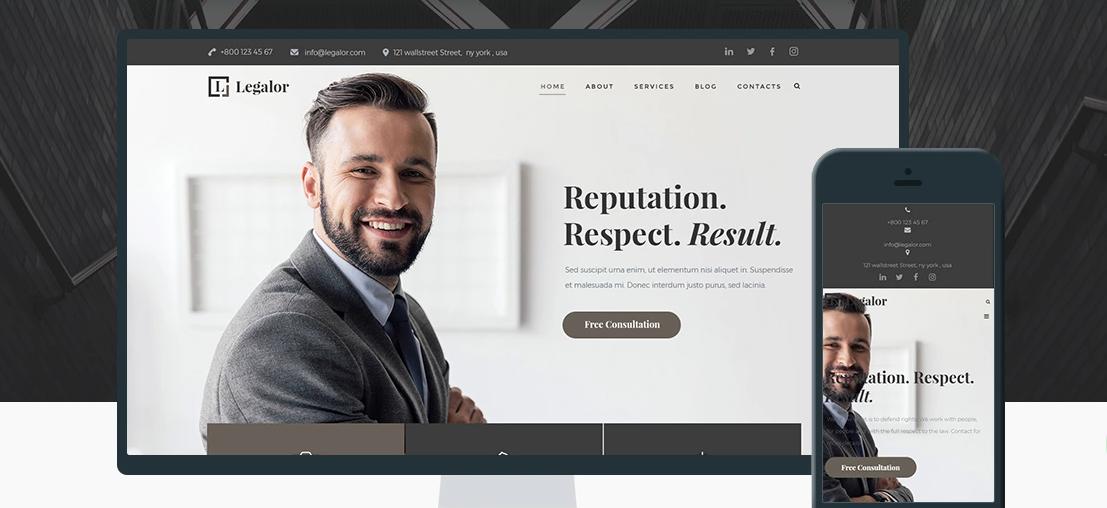 Legalor lawyer WordPress theme