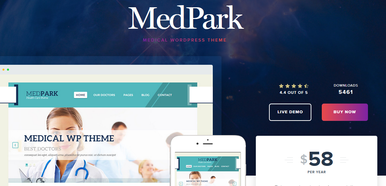MedPark WordPress medical theme