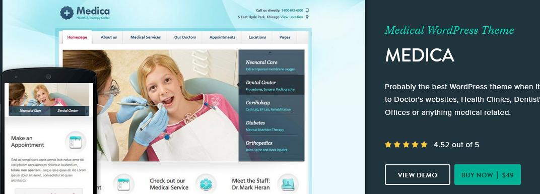 Medica WordPress medical theme