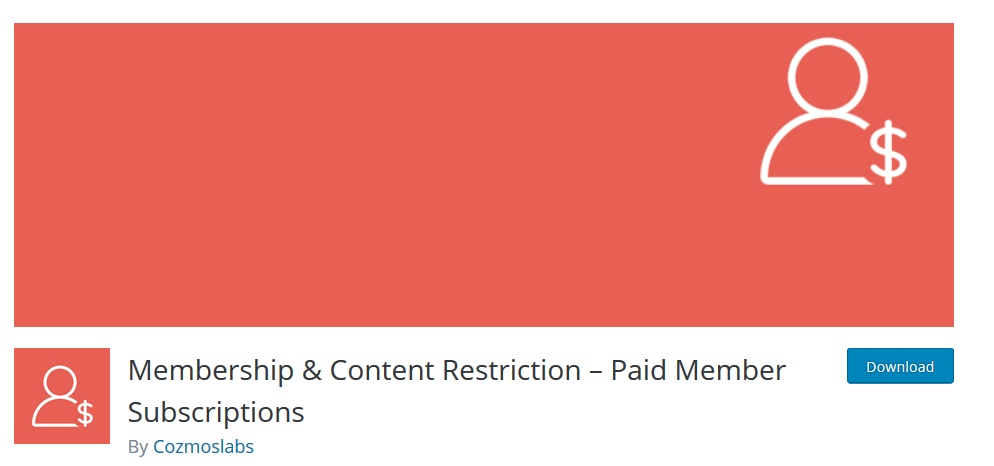 Membership Content Restriction WP plugin