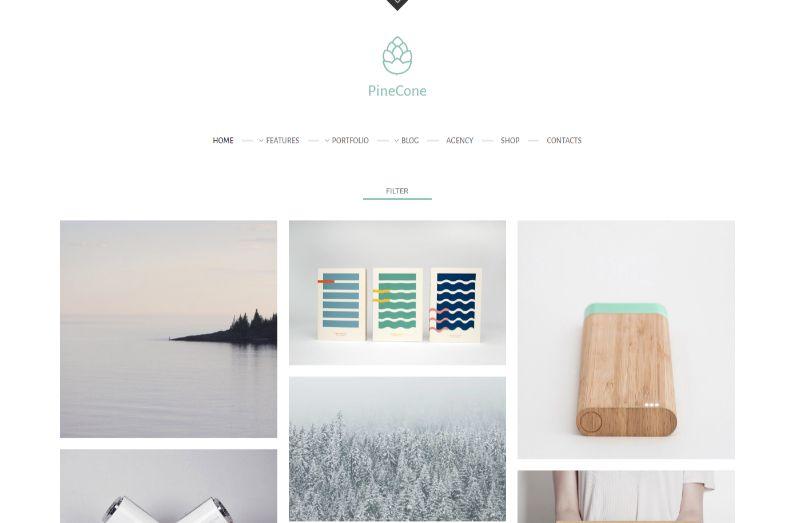 PineCone portfolio WordPress theme