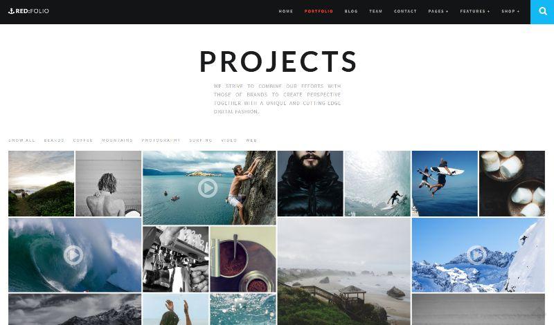 Redfolio Portfolio WordPress Theme