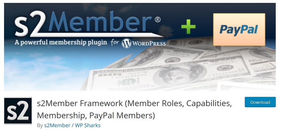 S2 Member Framework WP plugin