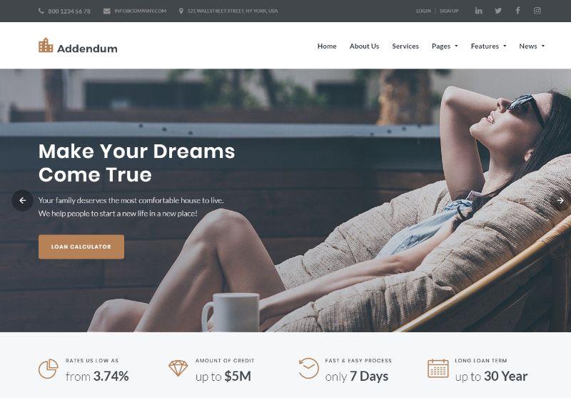 Addendum Real Estate WordPress Theme