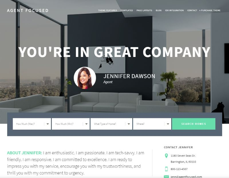 Agent Focused Real Estate WordPress Theme