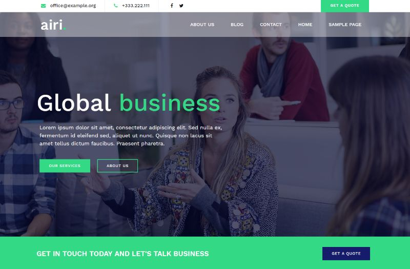 Airi Pro WordPress Business Theme
