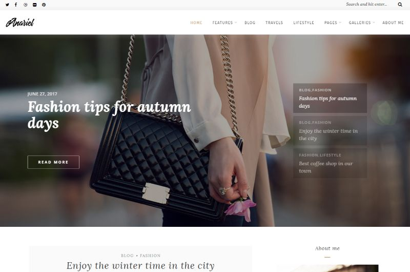 Anariel WordPress Fashion Theme