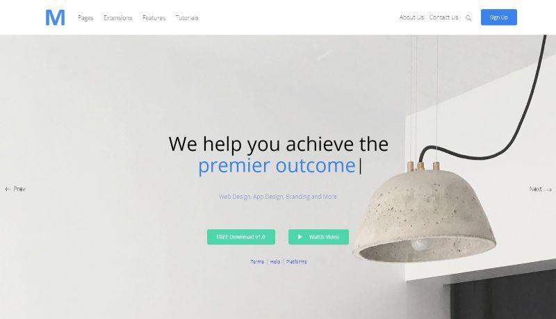 Arthur portfolio WordPress theme