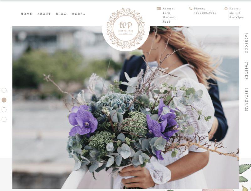 Belle Fleur WordPress Wedding Theme