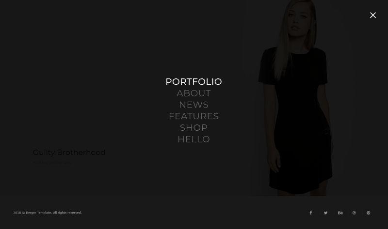 Berger portfolio WordPress theme