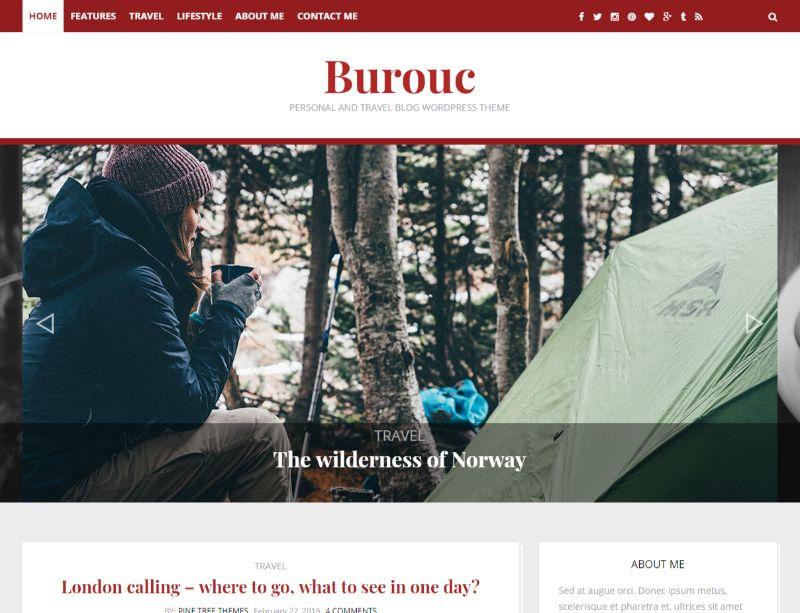 Burouc WordPress travel theme