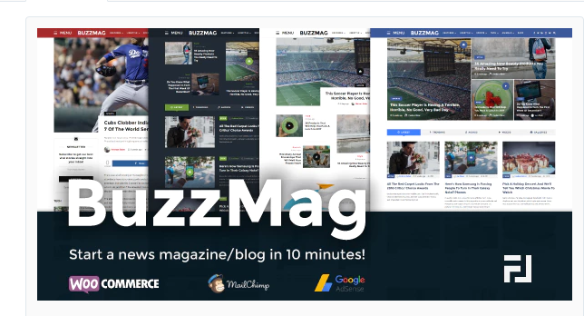 BuzzMag WordPress magazine theme