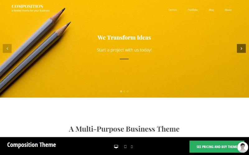 Composition WordPress Business Theme