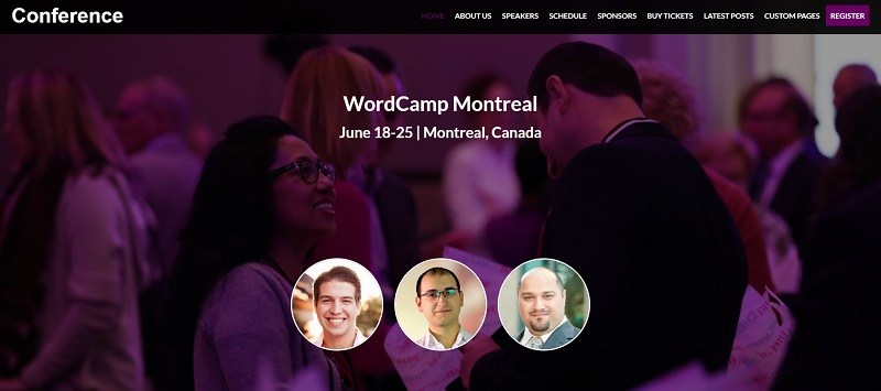 Conference WordPress Event Theme