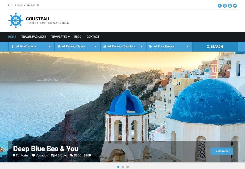 Cousteau WordPress travel theme