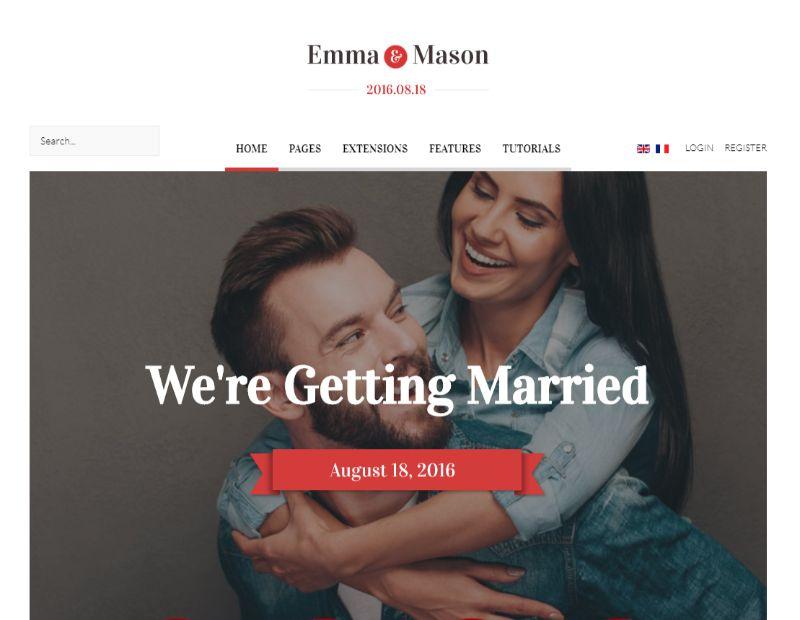 Emma and Mason WordPress Wedding Theme
