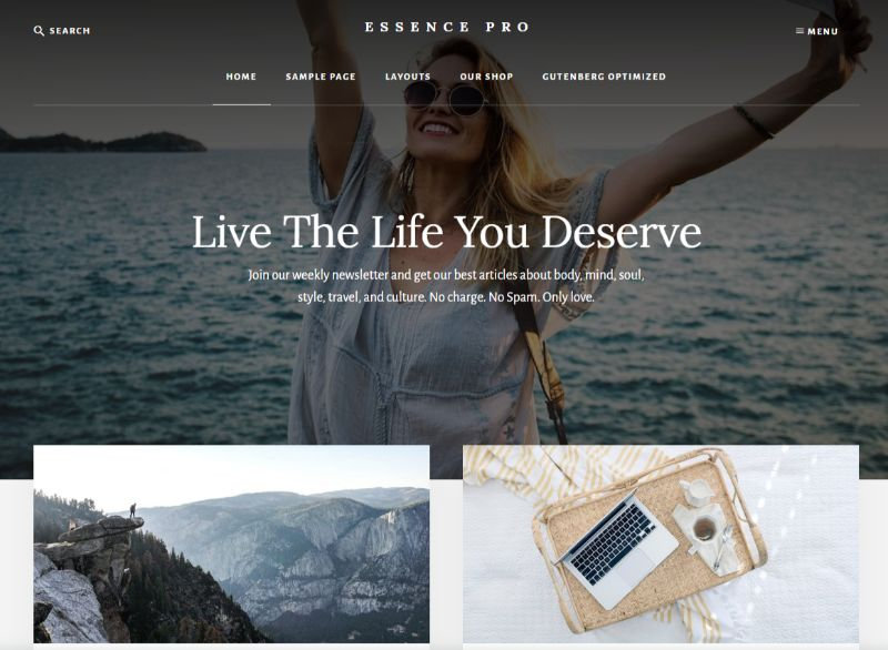 Essence Pro WordPress Fashion Theme