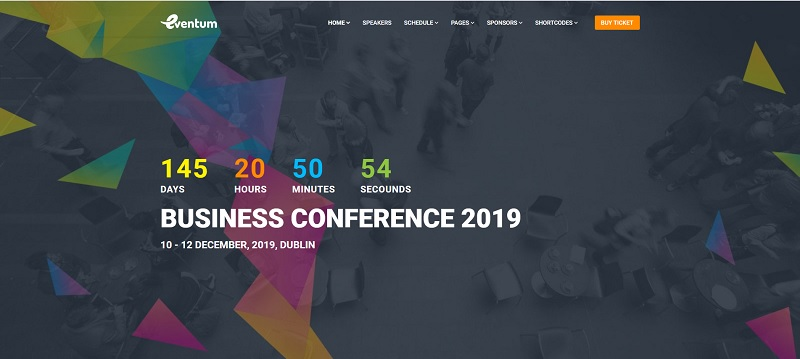Eventum WordPress Event Theme