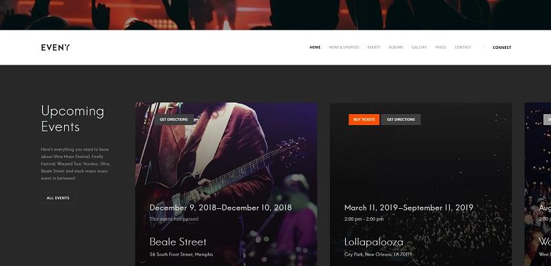 Eveny WordPress Event Theme