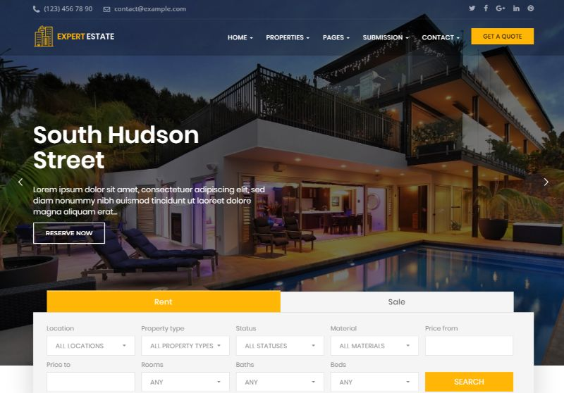 ExpertEstate Real Estate WordPress Theme