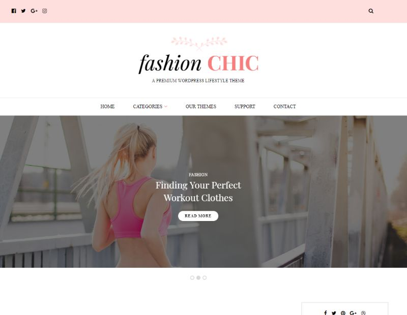 Fashion Chic WordPress Fashion Theme
