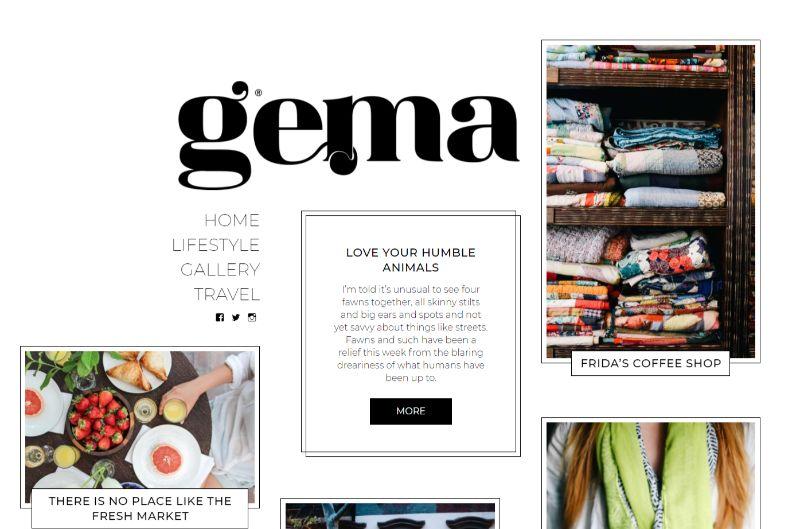 Gema WordPress travel theme