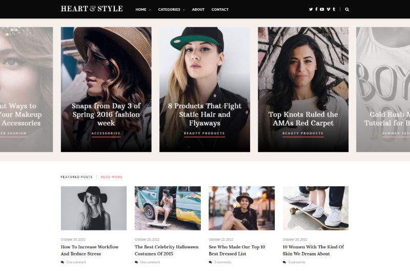 Heart Style WordPress Fashion Theme