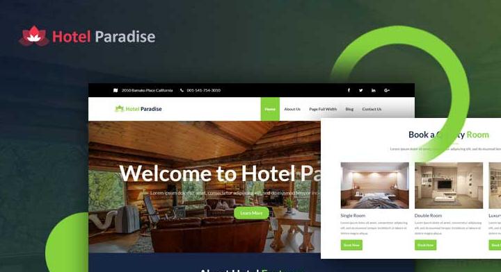 Hotel paradise hotel WordPress theme