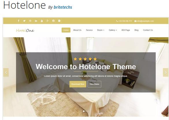 Hotelone hotel WordPress theme