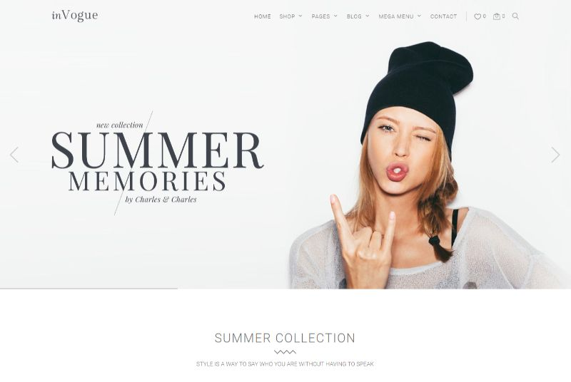 Invogue WordPress Fashion Theme