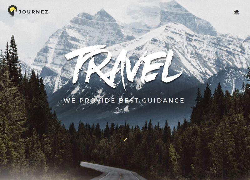 Journez WordPress travel theme