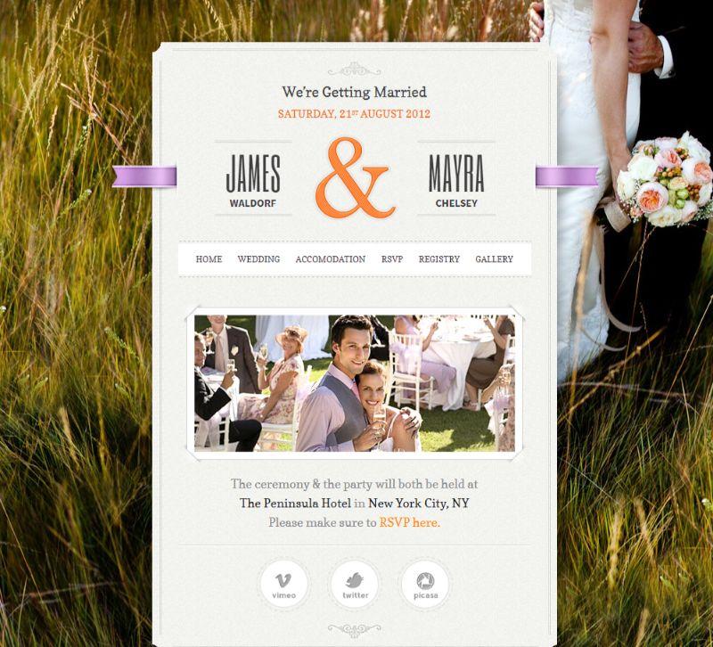 Just Married WordPress Wedding Theme