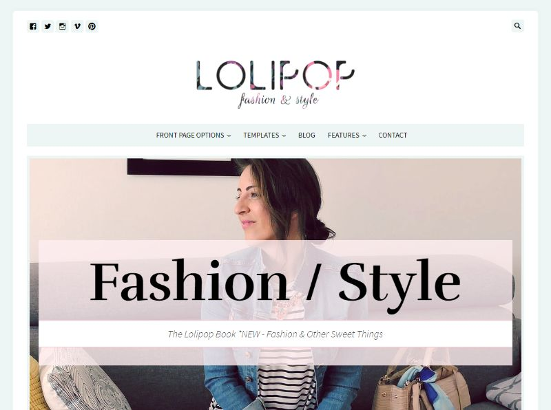 Lolipop WordPress Fashion Theme