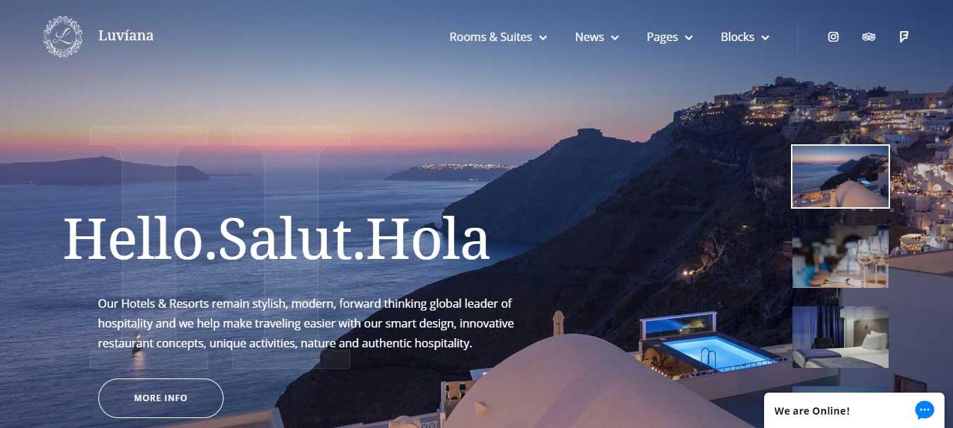 Luviana WordPress Hotel Booking Theme