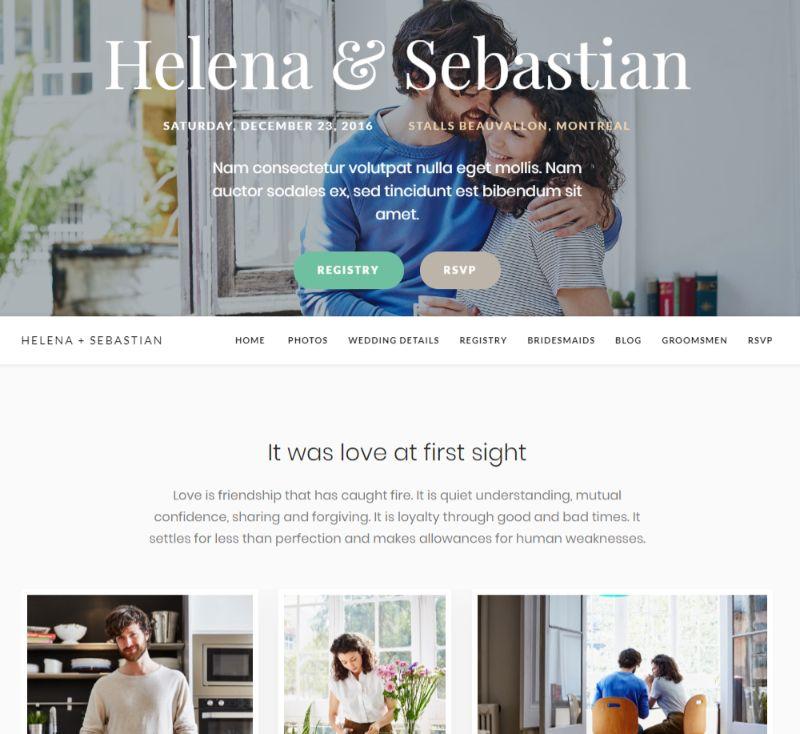 Meridian Weddings WordPress Wedding Theme