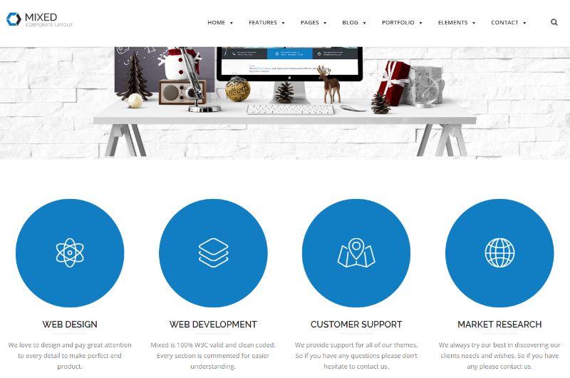 Mixed WordPress Business Theme