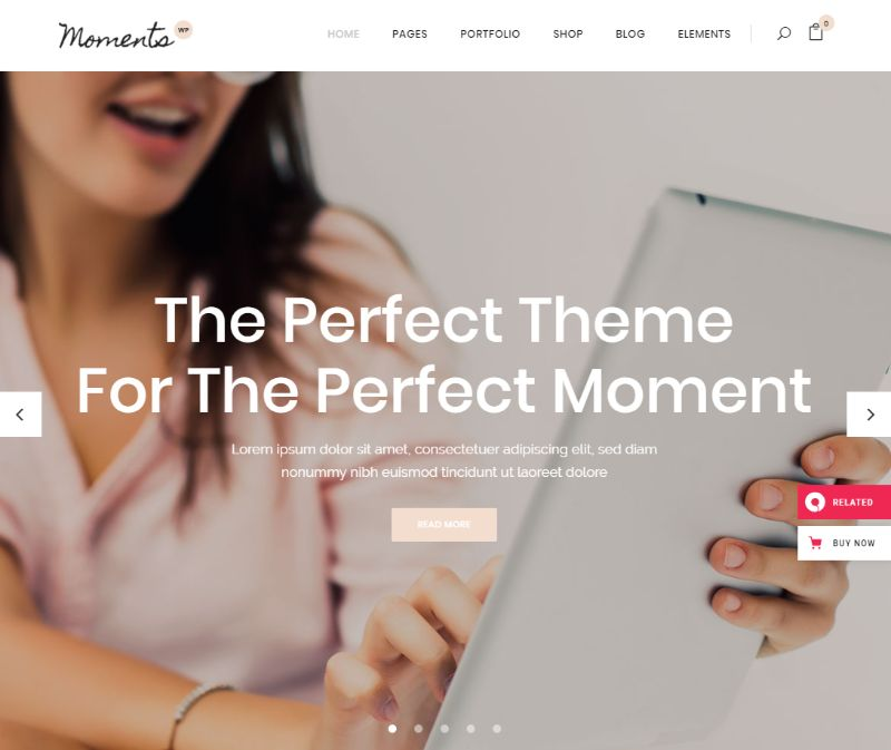 Moments WordPress Wedding Theme